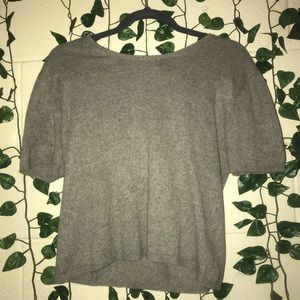 Rikki K Short Sleeved Shirt with Sweater Material